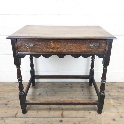 18th Century Oak Side Table with Drawer (1 of 9)