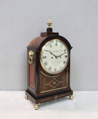 English George IV Mahogany Bracket Clock by Warwick (1 of 9)
