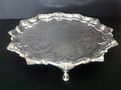 Paul Storr Antique Georgian Silver Salver - 1815 (1 of 6)