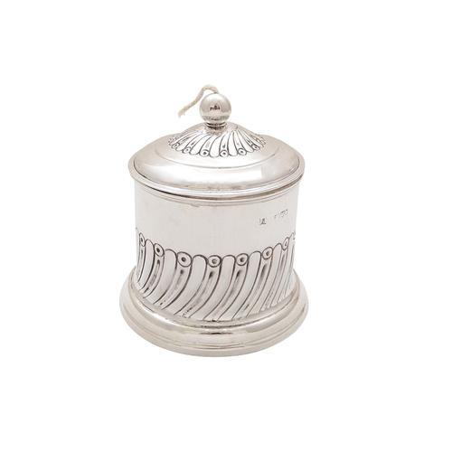 Antique Edwardian Sterling Silver String Box / Holder 1903 (1 of 8)