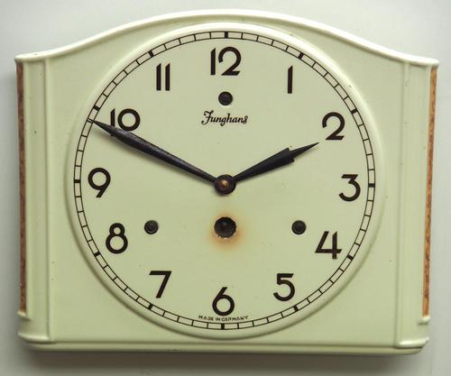 Awesome Kitch Ceramic Pot Clock – Junghans 1940s Kitchen Wall Clock (1 of 6)