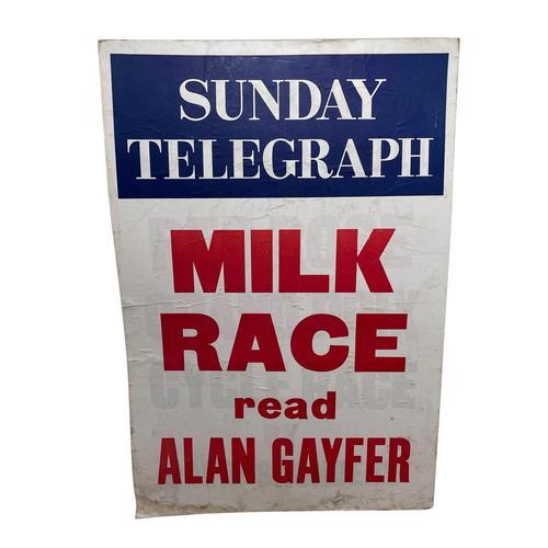 Vintage Advertising Poster Sunday Telegraph Milk Race c.1967 (1 of 23)