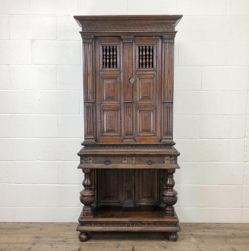 19th Century Oak Cupboard on Stand (1 of 10)