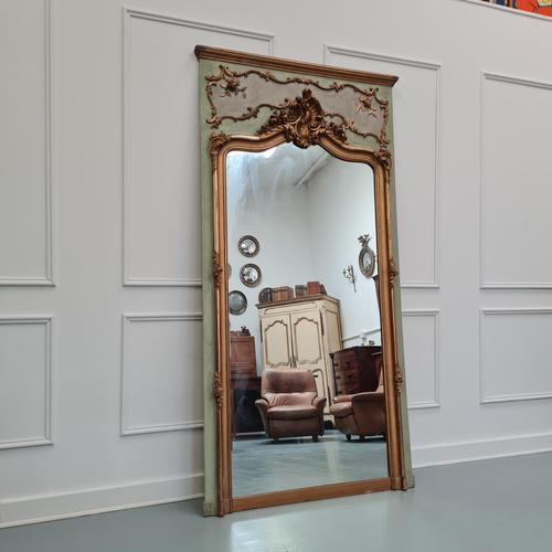 Large Antique French Trumeau Mirror c.1890 (1 of 6)