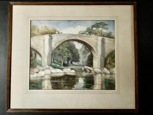 Ella Coates, Watercolour -The Devil's Bridge, Lowdale (1 of 2)