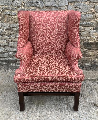 Victorian Mahogany Framed Wing Armchair (1 of 15)