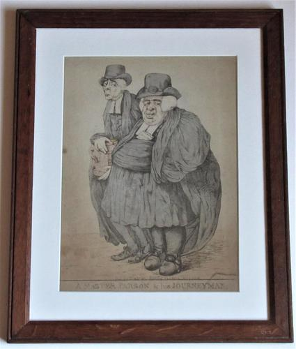 Original 18th Century Print by Robert Dighton, A Master Parson and His Journeyman, 1812 (1 of 9)