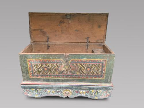 Fabulous 18th Century Himalayan Wooden Dowry / Marriage Chest (1 of 5)