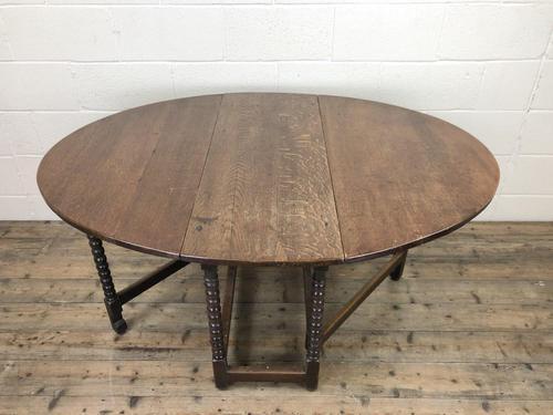 Antique 19th Century Oak Gateleg Dining Table (1 of 10)