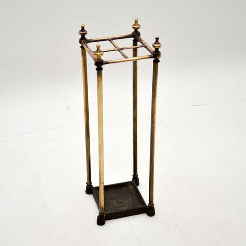Antique Victorian Brass Umbrella Stand (1 of 7)