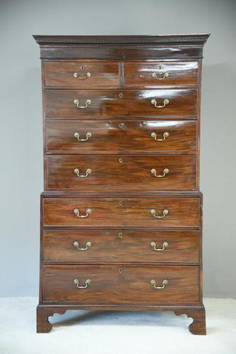 Antique Georgian Mahogany Chest on Chest Tallboy (1 of 7)