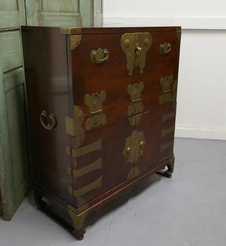 Oriental Style Campaign Bureau, Filing Cabinet with Secret Compartment (1 of 9)