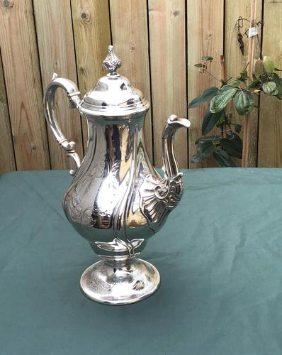 Georgian Silver Plated Coffee Pot (1 of 6)