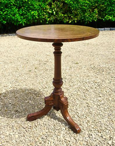 Signed Burr Walnut Occasional Table (1 of 5)