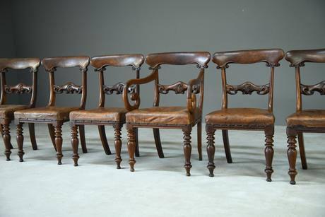 6 William IV Walnut Dining Chairs (1 of 9)