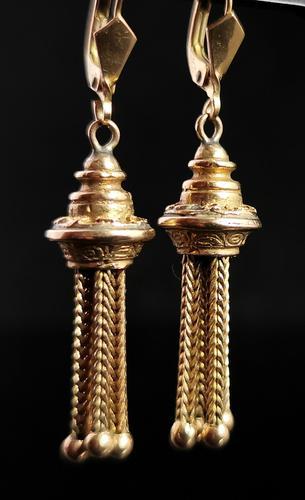 Victorian 9ct Gold Tassel Earrings (1 of 7)