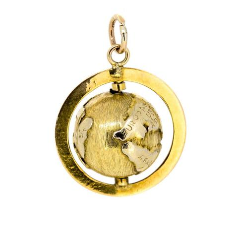 1960s 14ct Gold Globe Novelty Charm (1 of 5)