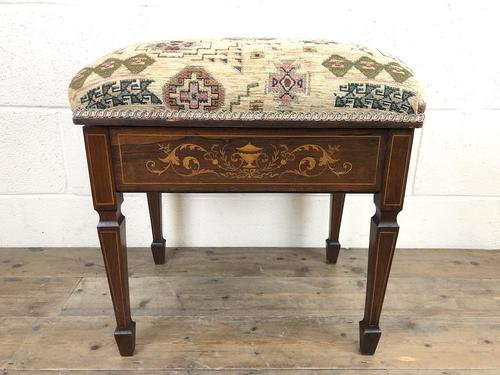 Antique Victorian Rosewood Piano Stool (1 of 14)