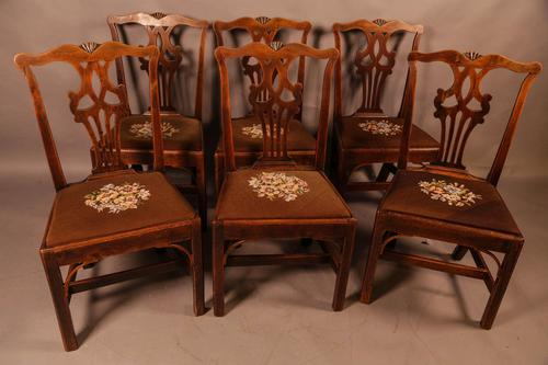 Set of 6 Country Chippendale Dining Chairs (1 of 11)