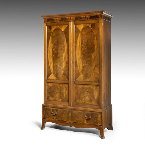 Handsome Late 19th Century Mahogany Two Door Press (1 of 5)
