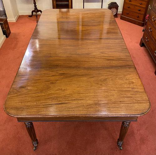 Good Early 19th Century Solid Mahogany Extending Dining Table (1 of 5)