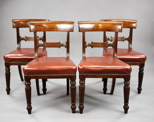 Set of 4 George III Mahogany Dining Chairs (1 of 9)