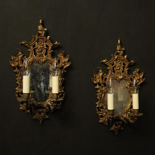 French Pair of Gilded Antique Girandoles (1 of 10)