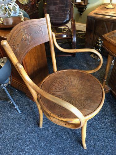 Antique Bentwood Chair J J Kohn Austria Stamped Original Rare Surviving Design (1 of 8)