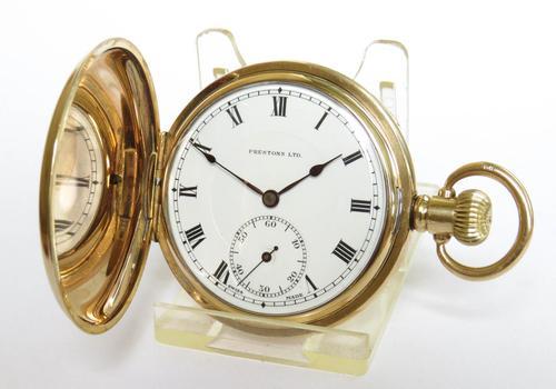 Chronometer Grade Super Prestex Hunter Pocket Watch (1 of 5)
