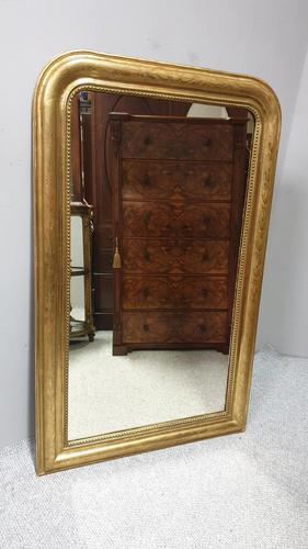 Very Good Louis Philippe Gilt Mirror (1 of 6)