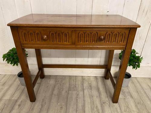 Oak Desk Side Table (1 of 4)