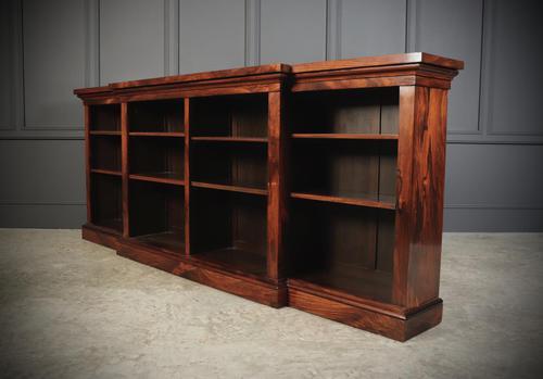 Large Regency Breakfront Rosewood Open Bookcase (1 of 12)