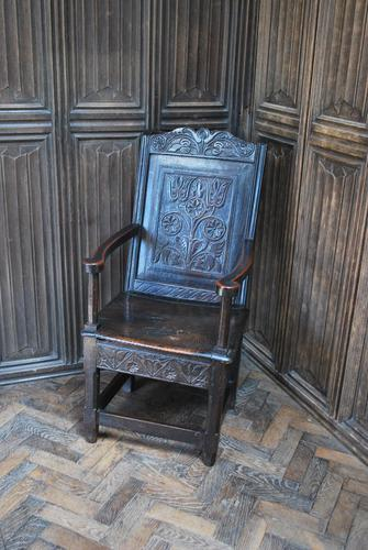 Antique Wainscot Chair (1 of 9)