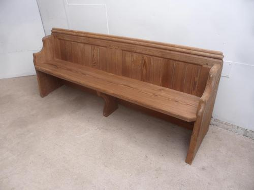 Victorian Antique Pine Pew 1868 from St Cynbryds Church to wax / paint (1 of 9)