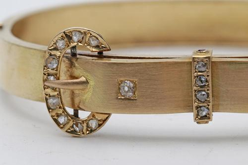 Late Victorian Gold & Diamond Bangle (1 of 3)