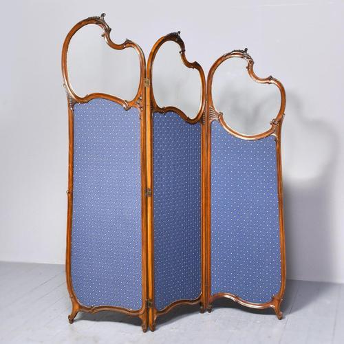 Louis XVI Style Mahogany Folding Screen (1 of 10)