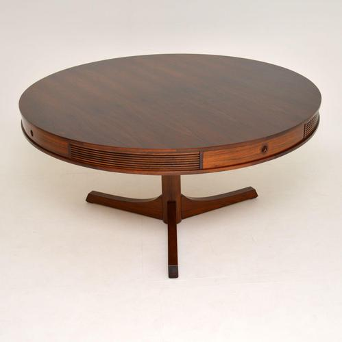1960's Rosewood Drum Dining Table by Robert Heritage for Archie Shine (1 of 11)
