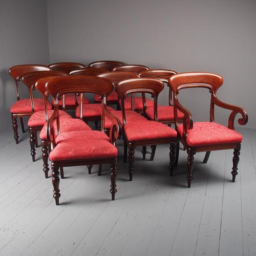 Set of 12 Scottish Mahogany Dining Chairs (1 of 18)