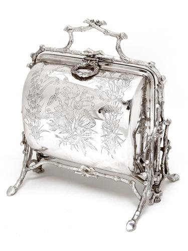 Victorian Fenton Brothers Beautifully Engraved Silver Plated Biscuit Warmer (1 of 4)