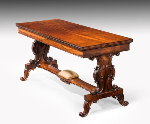 Regency Period Rosewood Library Table (1 of 7)