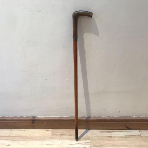 Gentleman's Horn Handle Dagger Walking Stick (1 of 19)