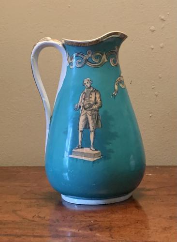 Turquoise Josiah Wedgewood Commemorative Jug (1 of 9)