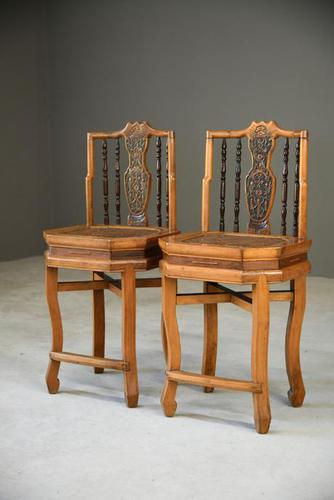 Pair of Asian Side Chairs (1 of 12)