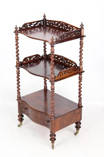 Antique Victorian 3 Tier Rosewood Whatnot (1 of 13)
