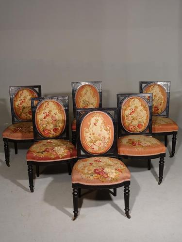 Excellent Set of 6 Early 20th Century Salon Chairs (1 of 6)