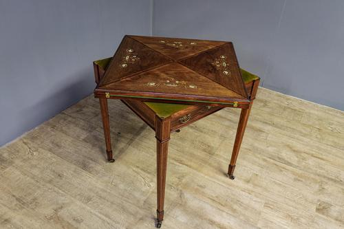 Late Victorian Envelope Card Table (1 of 9)