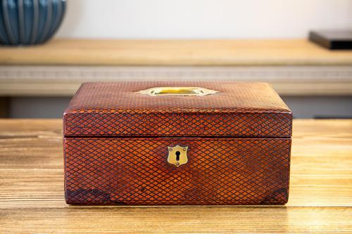 Victorian Red Leather Jewellery Box 1890 (1 of 10)