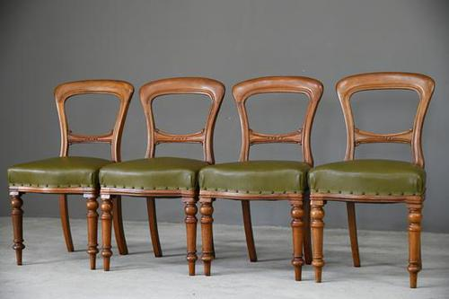 4 Victorian Mahogany Dining Chairs (1 of 12)