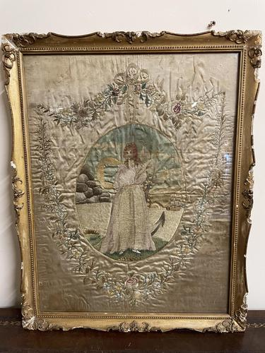 Georgian 18th Century Silk Embroidered Picture (1 of 10)