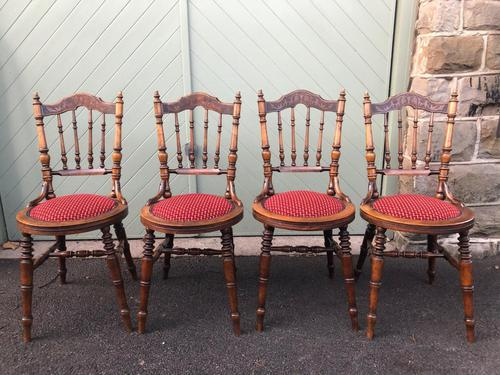 Antique Set 4 Kitchen Chairs (1 of 10)